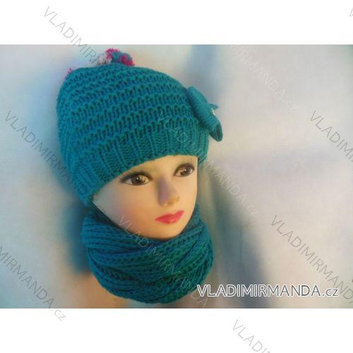 c48a61497 Set zimná čiapka a šál detský dievčenský (uni) poľských výrobcov na POL191